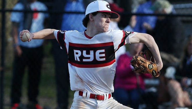Junior right-hander Declan Lavelle is expected to take the ball when No. 2 Rye hosts No. 7 Brewster in the Class A quarterfinals on May 22, 2019. Brewster upset Rye in the first round last year.