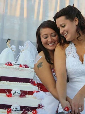 Lenora and Leticia Reyes-Petroff, both 34, married in Callifornia in 2013.