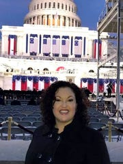 Bernadette Granger of Carlsbad was at the inauguration