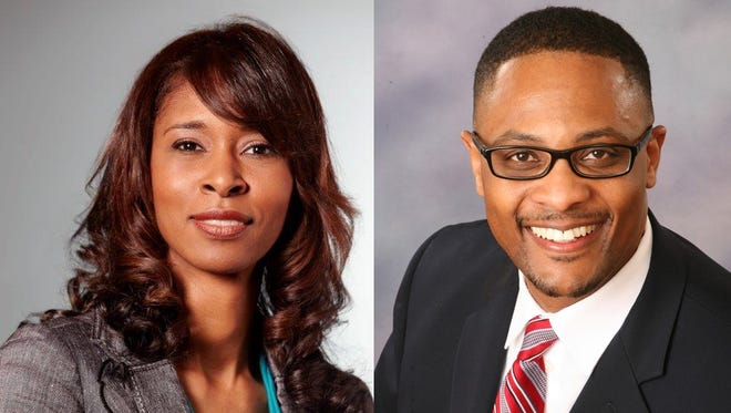 Laura Mitchell and Andre Spencer are the two finalists for the Cincinnati Public Schools superintendent job.