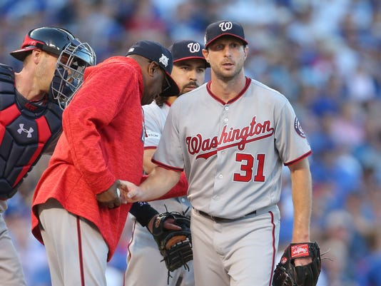 USP MLB: NLDS-WASHINGTON NATIONALS AT CHICAGO CUBS S BBN CHC WAS USA IL