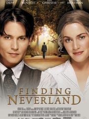 "In ""Finding Neverland,"" playwright James Matthew Barrie, played by Johnny Depp, meets a widow, played by Kate Winslet, with four young boys who inspire him to create Neverland and Peter Pan."