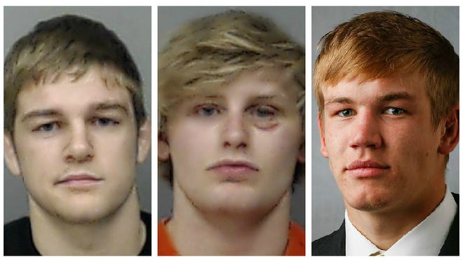From left, Iowa wrestlers Seth Gross, Ross Lembeck and Logan Ryan were all dismissed from the team in May after being given felony burglary charges. Gross and Lembeck's photos are provided by the Linn County Sheriff's Department. The county did not have a booking mug from Ryan on file. Lembeck pleaded to lesser charges of being an accessory to a felony and first-offense drunken driving.