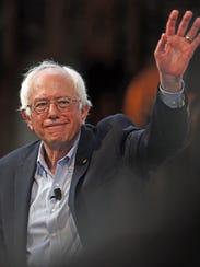 Democratic presdiential candidate Bernie Sanders