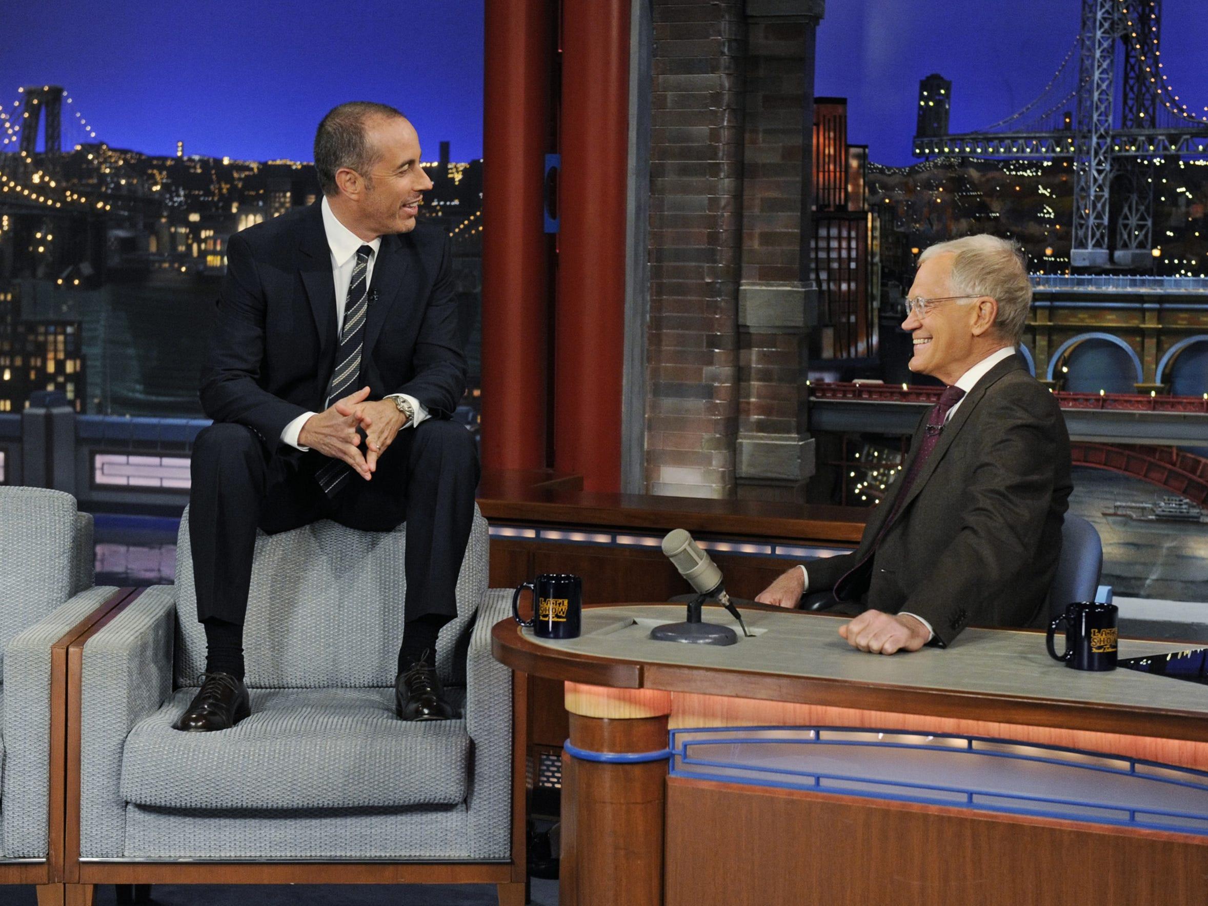David Letterman Interviews Comedian Jerry Seinfeld