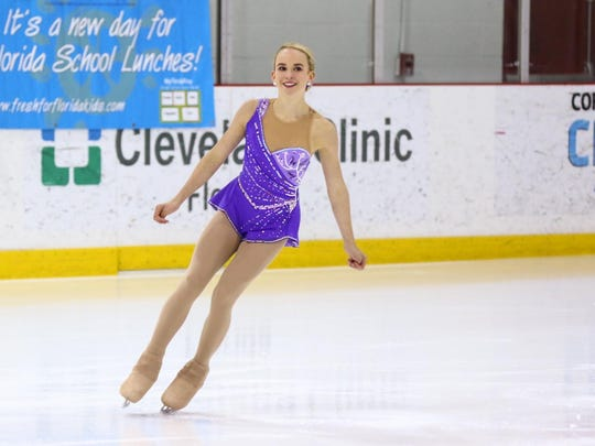 Estero's Paxton James won the Intermediate Ladies Short Program and the Intermediate Ladies Free Skate event at the Sunshine State Games in May.