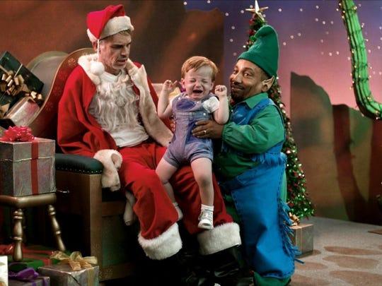"""We've all had a few """"Bad Santa"""" experiences. Billy Bob Thorton, left, and Tony Cox star."""