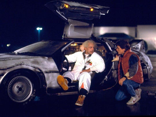 Columnist Mark Hinson makes like Marty McFly (Michael J. Fox, right) goes time-tripping in this week's look at Florida in 2017.