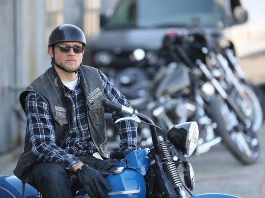 "Charlie Hunnam played biker Jax Teller in FX's popular ""Sons of Anarchy."""