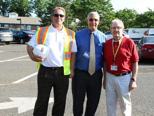 From left, Joshua Benson, Kendell R. Sprott, MD, JD, Matheny president and CEO; and Larry Thornton