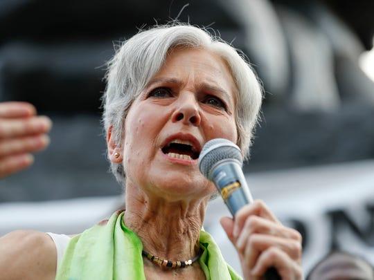 Jill Stein, Green Party presidential nominee, speaks