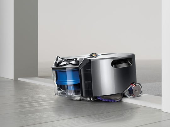 The Dyson 360 Eye, a powerful robotic vacuum cleaner, can do your floors while you're away.
