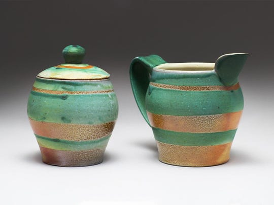 "Work by ceramic artist Susan Hatcher that was part of ""Locals: Living on Clay and Louisville Soil"" at Craft(s) Gallery."