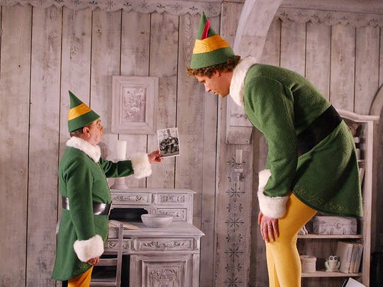 "Will Ferrell and Bob Newhart in ""Elf"" (2003)."