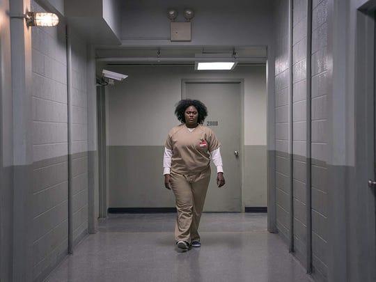 "Danielle Brooks as Tasha (Taystee) Jefferson in ""Orange Is the New Black."""