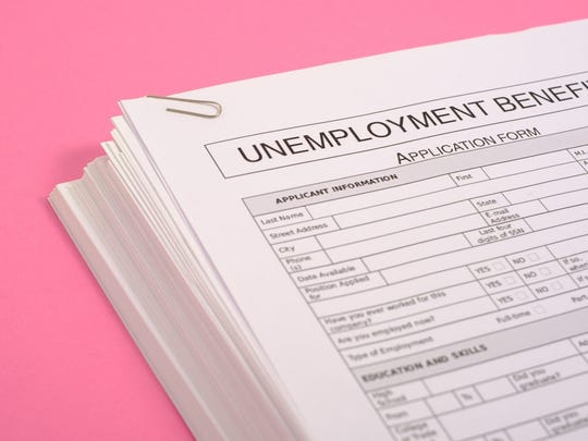 Unemployment benefits form.