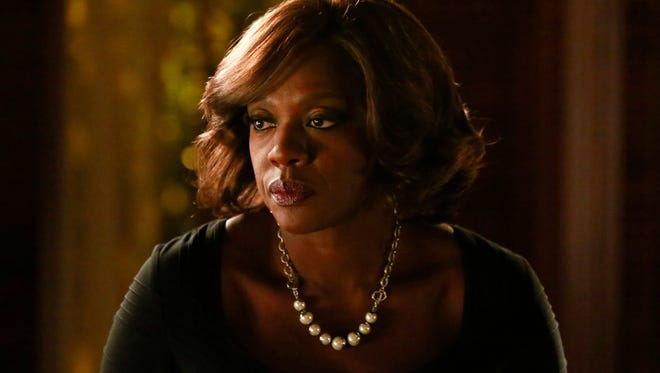 """In this image released by ABC, Viola Davis appears in a scene from """"How To Get Away With Murder."""" Davis was nominated for an Emmy Award for outstanding lead actress in a drama series for her role on the show. The 67th annual Primetime Emmy Awards will be held on Sunday, Sept. 20, 2015, in Los Angeles. (Mitchell Haaseth/ABC via AP)"""