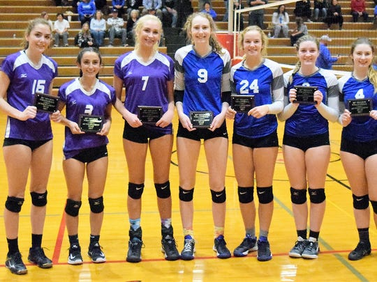 All-tournament players from the finalist:  Campbell: Elena McCleary, Olivia Crowl, Kasey Martin Scott: Kelly Franxman, Summer Secrist, Lindsey Fox, Keaton Mossman