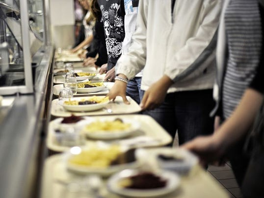 lunch cafeteria line