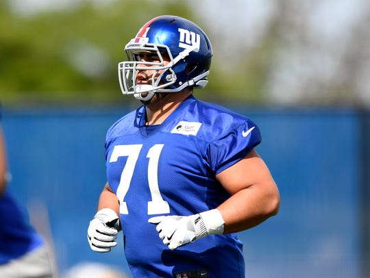 New York Giants rookie guard Will Hernandez on the