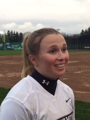 Binghamton University softball player Jessica Rutherford, a Horseheads resident and Horseheads High graduate.