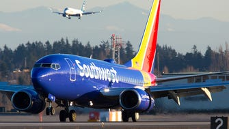 A Southwest Airlines Boeing 737 lands at Seattle-Tacoma International Airport in February 2017.