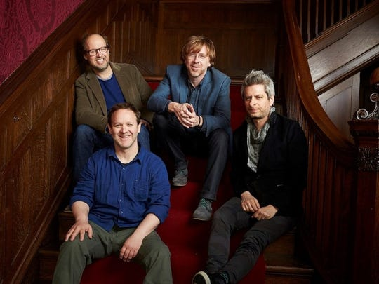 Phish (from left, Page McConnell, Jon Fishman, Trey Anastasio and Mike Gordon) will perform on June 26 at Klipsch Music Center.