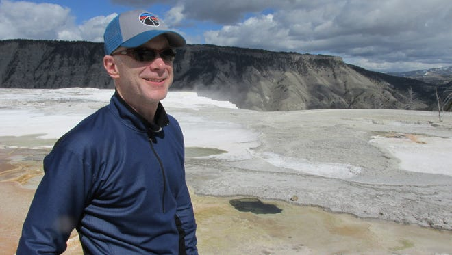 Dan Layman cycled 100 miles through Yellowstone National Park.