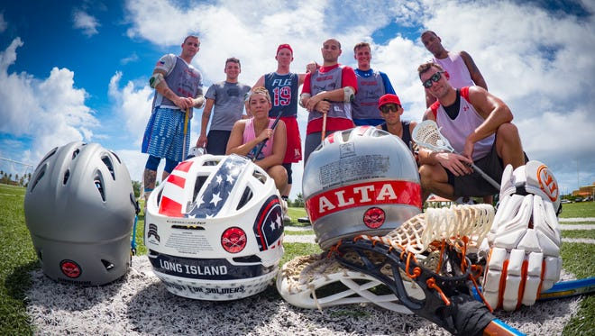 The Guam Blacktips, formerly known as the Guam Lacrosse Club, founded in 2016, are an official lacrosse squad based on Guam. Pictured are nine of 21 members at practice in October.