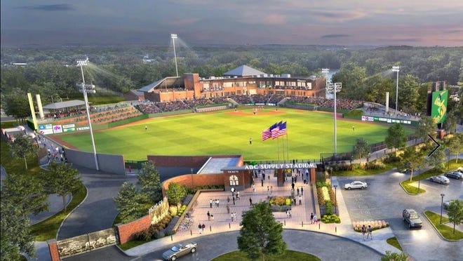 Artist's rendering of the new Beloit Snappers baseball stadium.
