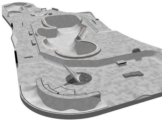 A design from 2011 of Burlington's waterfront skatepark