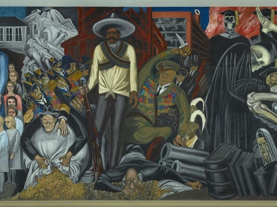 'The Epic of American Civilization' (wall mural detail), created in 1932–34 by José Clemente Orozco.