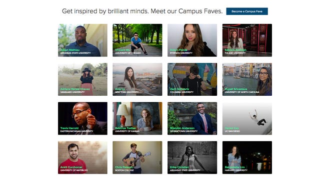 About.me's Campus Faves puts the spotlight on students