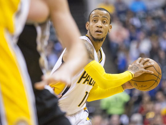 Monta Ellis, shown here against San Antonio in February, was waived by the Indiana Pacers on Wednesday.