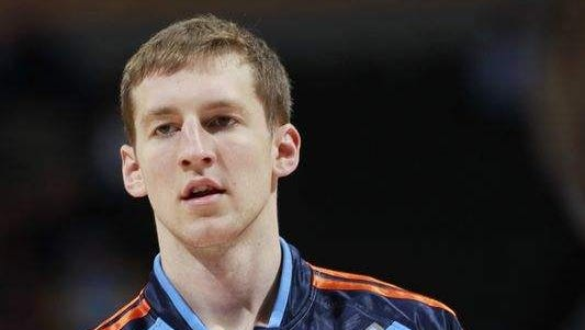 Cody Zeller, former IU player is now with the Charlotte Hornets.