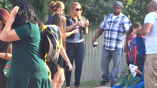 Mariah Carey enjoys a day out at Six Flags Great Adventure in Jackson on Saturday.