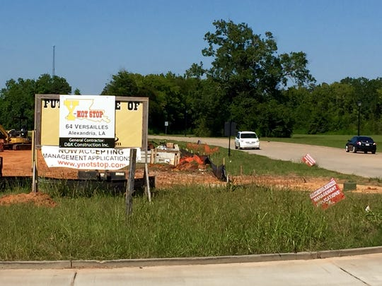A Y-Not Stop is under construction at the corner of Versailles Boulevard and Provine Place.