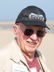 Gazo Nemeth on Utah Beach in France in 2014.