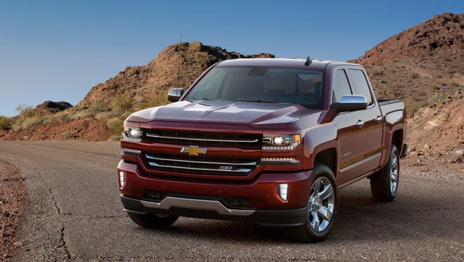 The 2016 Chevrolet Silverado 1500 will feature a freshened front-end design and an updated Chevy MyLink screen through which owners can access either Android Auto or Apple CarPlay to replicate their smartphone icons on the screen.