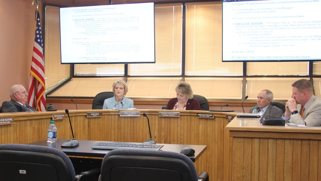Eddy County Commissioner discuss business at Tuesday's regular meeting, March 13, 2018.