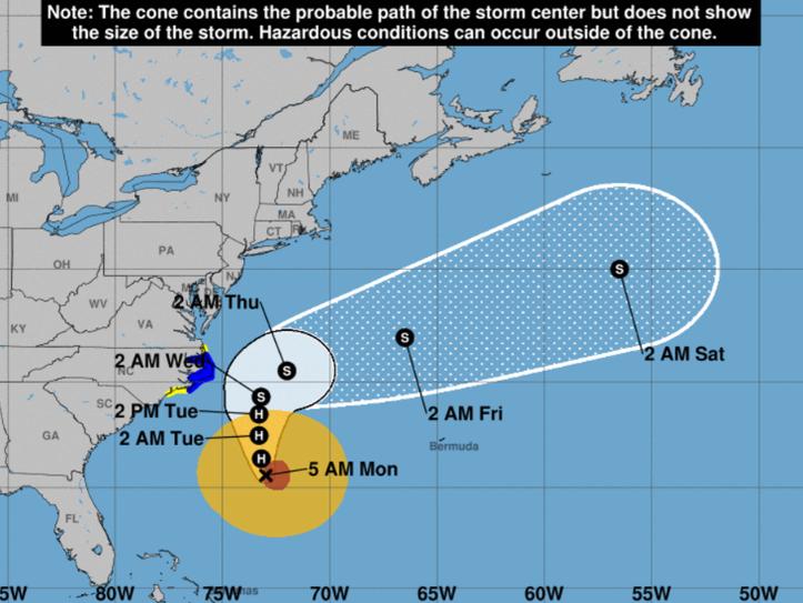 Hurricane Maria. 5 a.m. Sept. 25, 2017.
