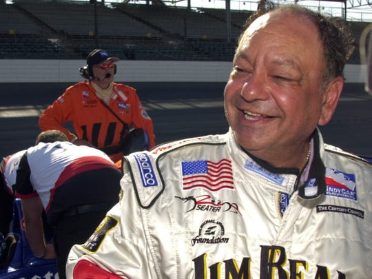 Cheech Marin laughs as he describes his ride in a two-seat car at Indianapolis Motor Speedway in 2005.