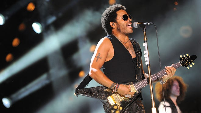 Lenny Kravitz performs at LP Field during the 2013 CMA Music Festival in Nashville.