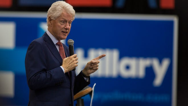 Former President Bill Clinton paid Tallahassee a visit to campaign for his wife and presidential hopeful Hillary Clinton.