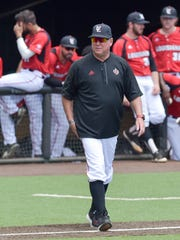 UL coach Tony Robichaux, shown here during a series against Georgia Southern last month, wants Sun Belt teams to be more RPI-conscious when scheduling.
