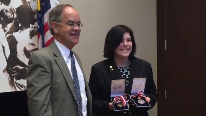 In August, U.S. Rep. Jim Cooper, D-Tenn., presented Nashville's Allison Plattsmier with two Congressional Awards for her volunteer service.