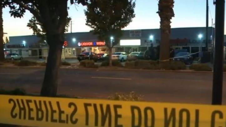 Crime scene at The Hookah Lounge Smoke Shop in Sacramento