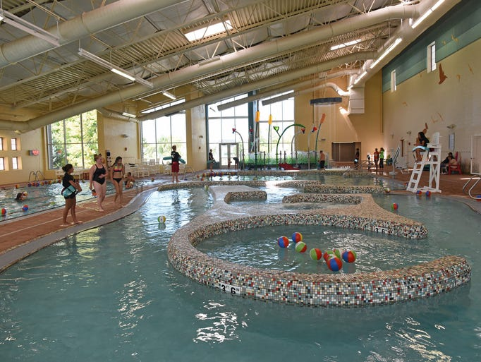 A look inside of the new aquatics center at the expanded