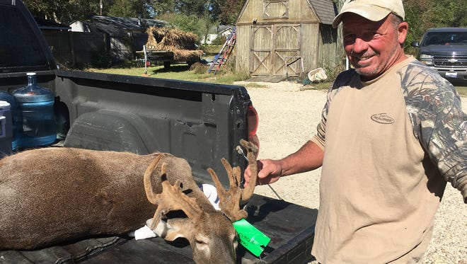 Jimmy Giacone of Hammond, Louisiana harvested this 16-point doe in Amite County on Nov. 20.