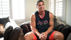 Jose Canseco, shown at his home in May, Tweeted about